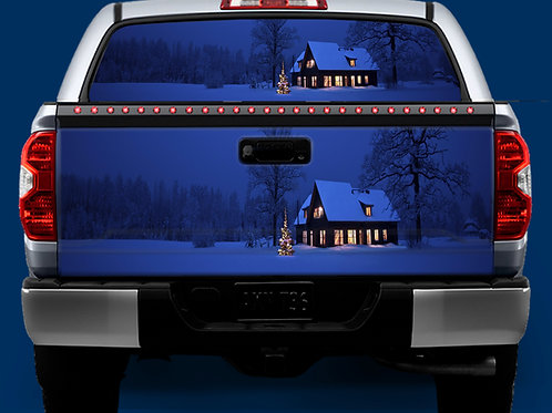 Tailgate / Window Wrap - Christmas House