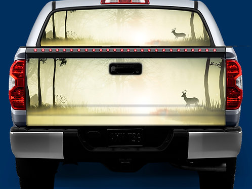 Tailgate / Window Wrap - Deer on Lake
