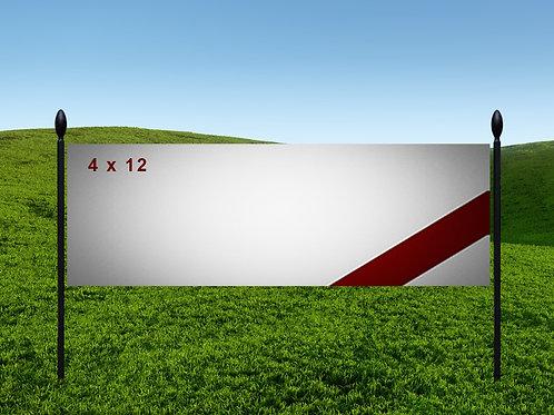 4' x 12' 13oz Banner