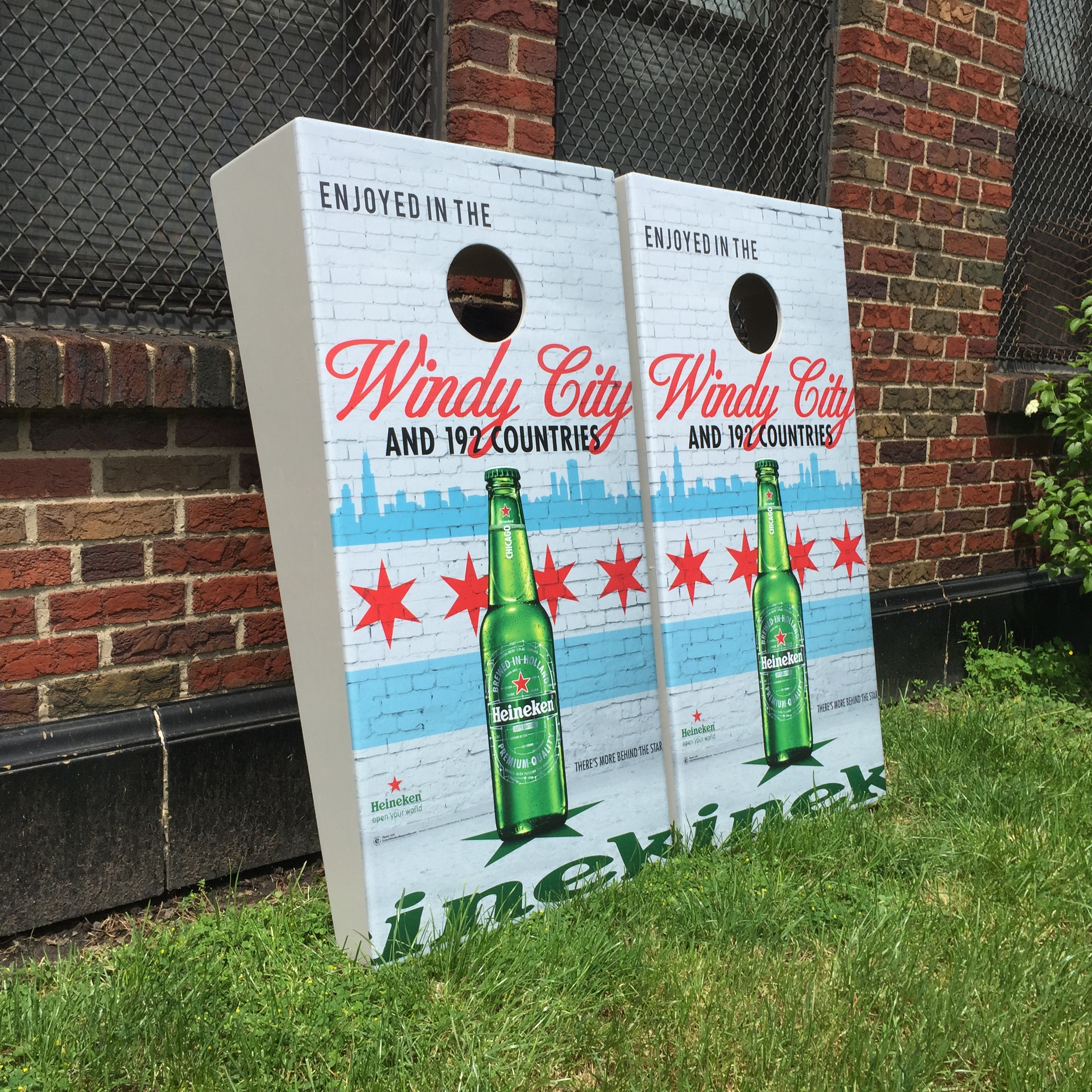 Wind Cities Cornhole Board Wrap