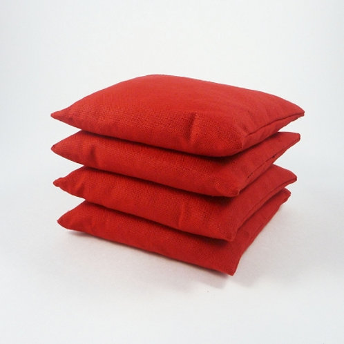 "RED Duck Cloth 6"" Bags (Set of 4)"