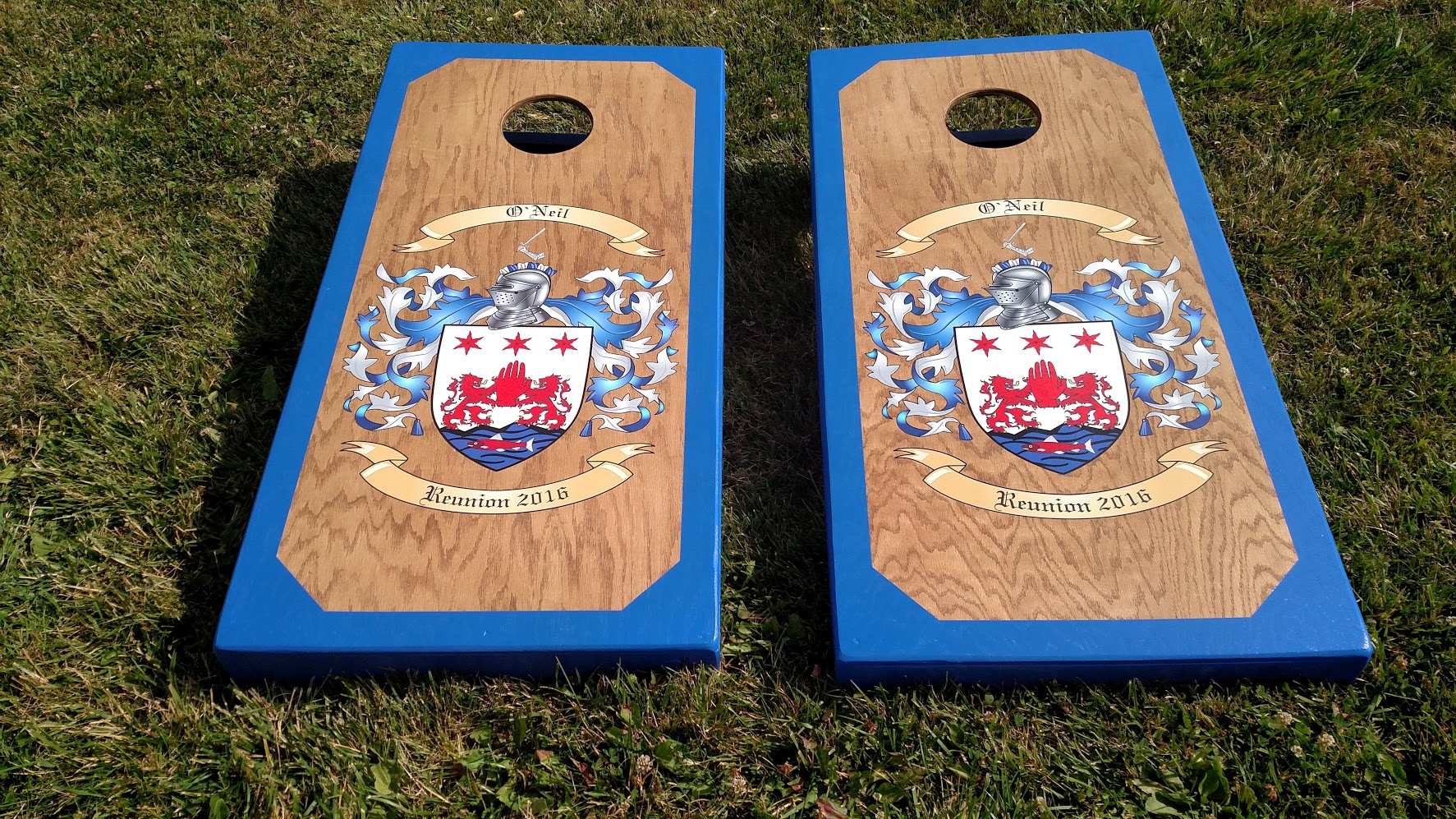 Family Crest Cornhole Board Wraps