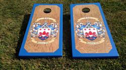 Family Crest Cornhole Board Wraps