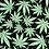 Thumbnail: Set of 4 - Marijuana *Glow in the Dark* FREE SHIPPING