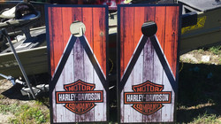Harley Davidson Cornhole Wraps