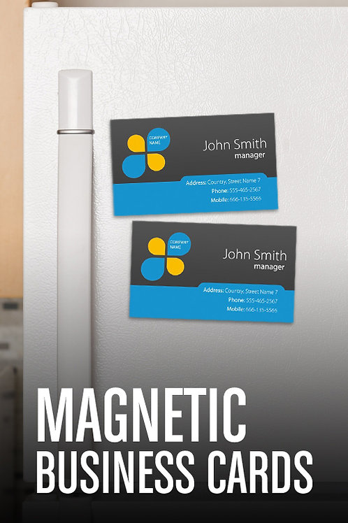 "3"" x 2.5"" Magnetic Cards"