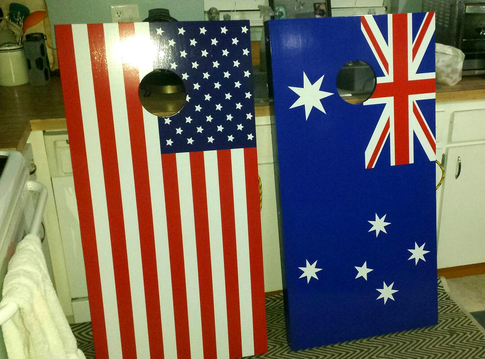 Flag Cornhole Board