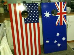 Flag Cornhole Board