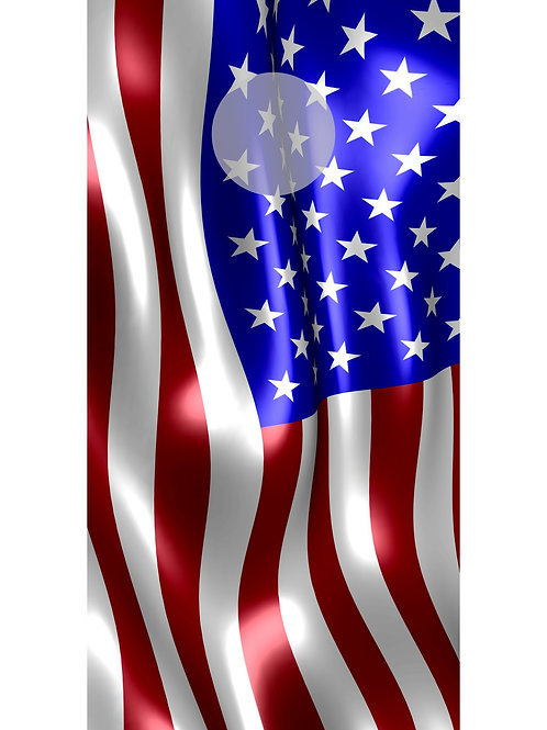 American Flag Cornhole Wrap Set