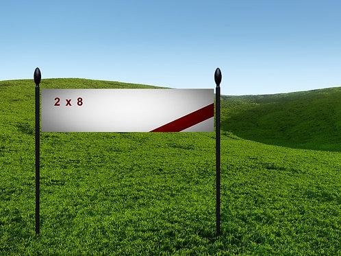 2' x 8' 13oz Banner
