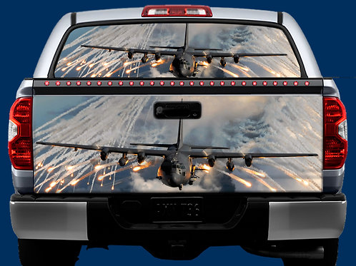 Tailgate / Window Wrap - Military Flares