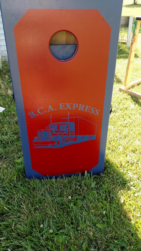 Custom Business Cornhole Board Wrap