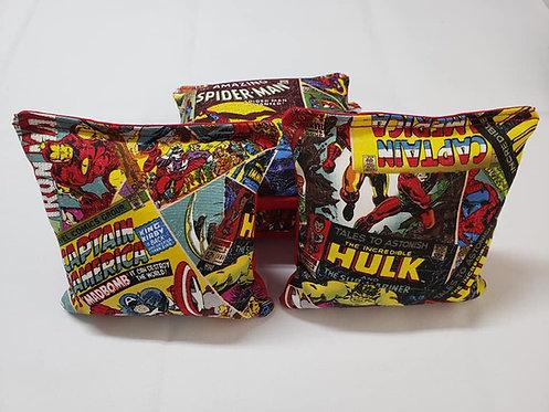 Set of 4 -Marvel Retro Comic