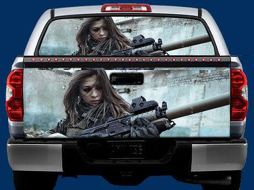 Tailgate / Window Wrap - Army Girl