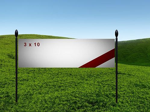 3' x 10' 13oz Banner