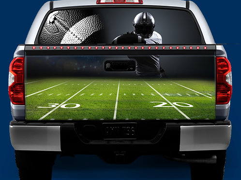 Tailgate & Window Wrap Kit - Football1
