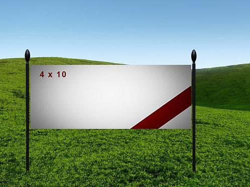 4' x 10' 13oz Banner