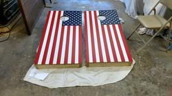 American Flag Cornhole Wrap
