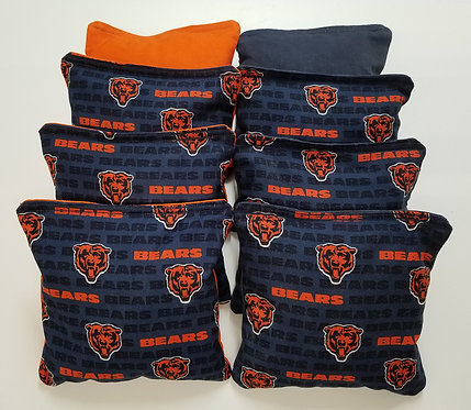 Clearance- Set of 8 - Bears Orange & Navy