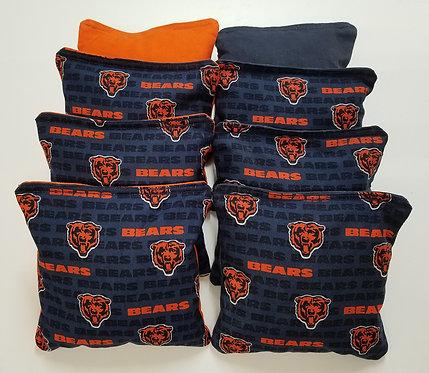 Set of 8 - Bears Orange & Navy