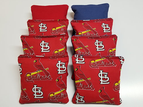 Set of 8 - Cardinals Red & Blue