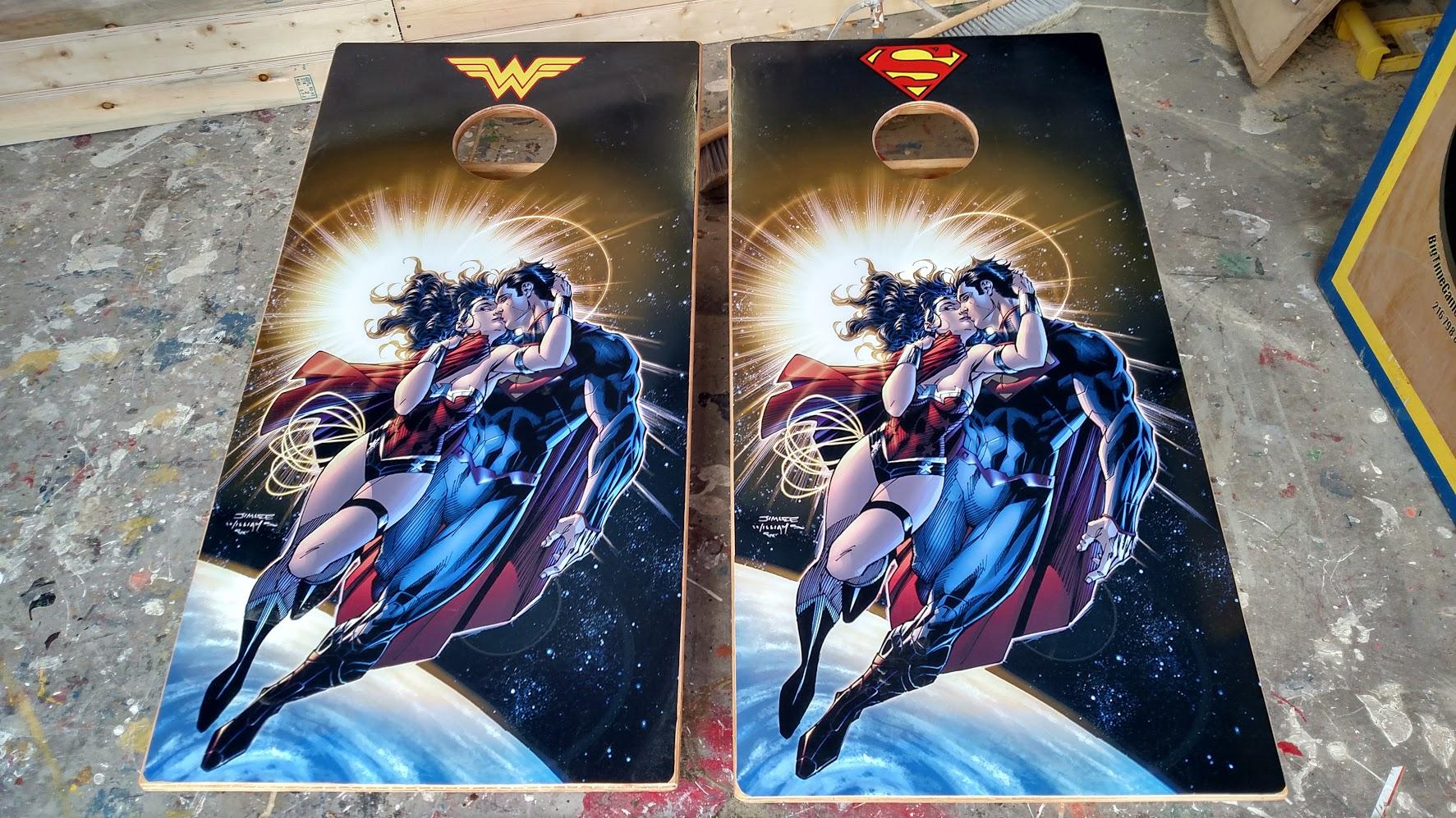 Superman Cornhole Board Wraps