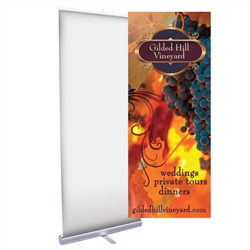 """Economical 24"""" Banner Stand"""