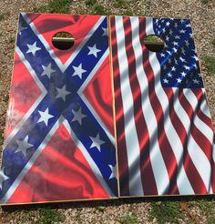 American Flag & Rebal Flag Wraps