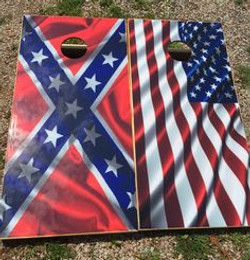 American Flag & Rebal Flag Wraps