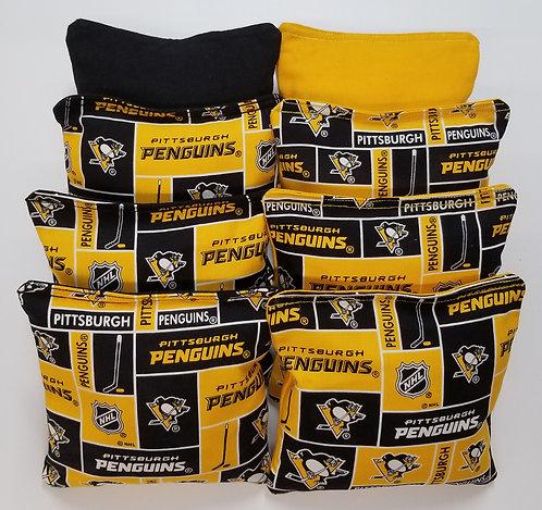 Set of 8 - Penguins Black & Yellow