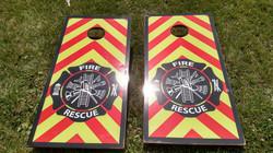 Fire House Cornhole Board Wraps