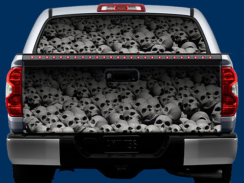 Tailgate / Window Wrap - Skulls 1