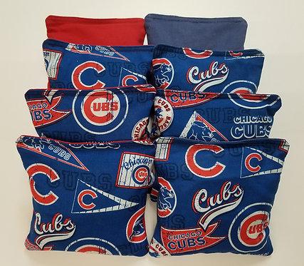 Set of 8 - Cubs Flag Red & Blue