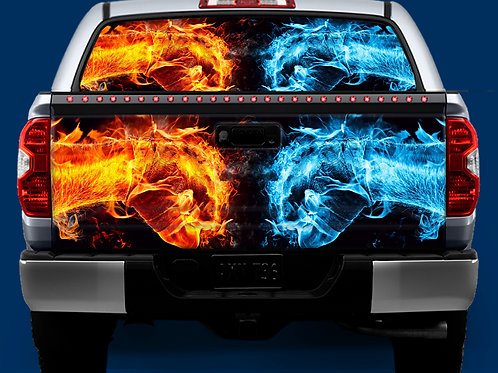 Tailgate / Window Wrap - Hot & Cold Fist