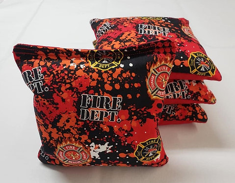 Set of 4 - Fire Department FREE SHIPPING