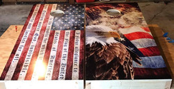 Patriotic Cornhole Wraps