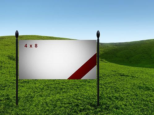 4' x 8' 13oz Banner