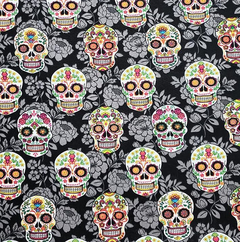 Set of 4 - Candy Skulls