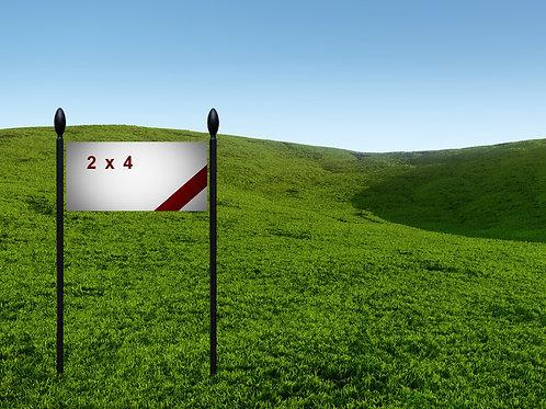 2' x 4' 13oz Banner