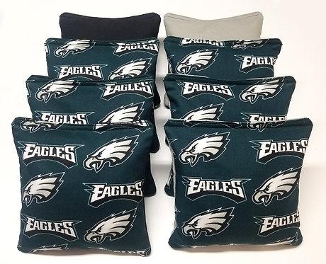 Set of 8 - Eagles Black & Grey