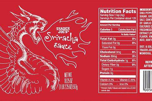 Trader Joe's Can Wrap Sriracha Sauce