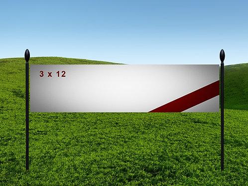 3' x 12' 13oz Banner