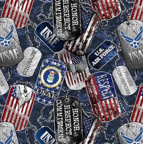 Set of 4 - US Air Force Dog Tags