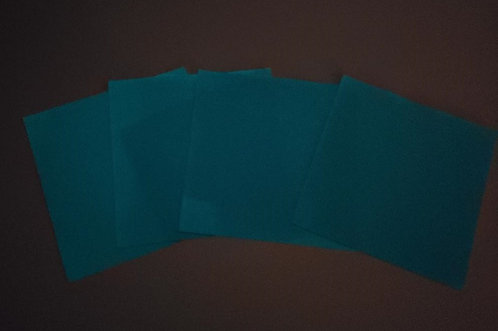 Set of 4 - Glow in the Dark- Blue LIMITED QUANTITY- ~Only 1 set left~