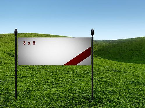 3' x 8' 13oz Banner