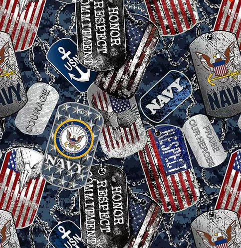 Set of 4 - US Navy Dog Tags