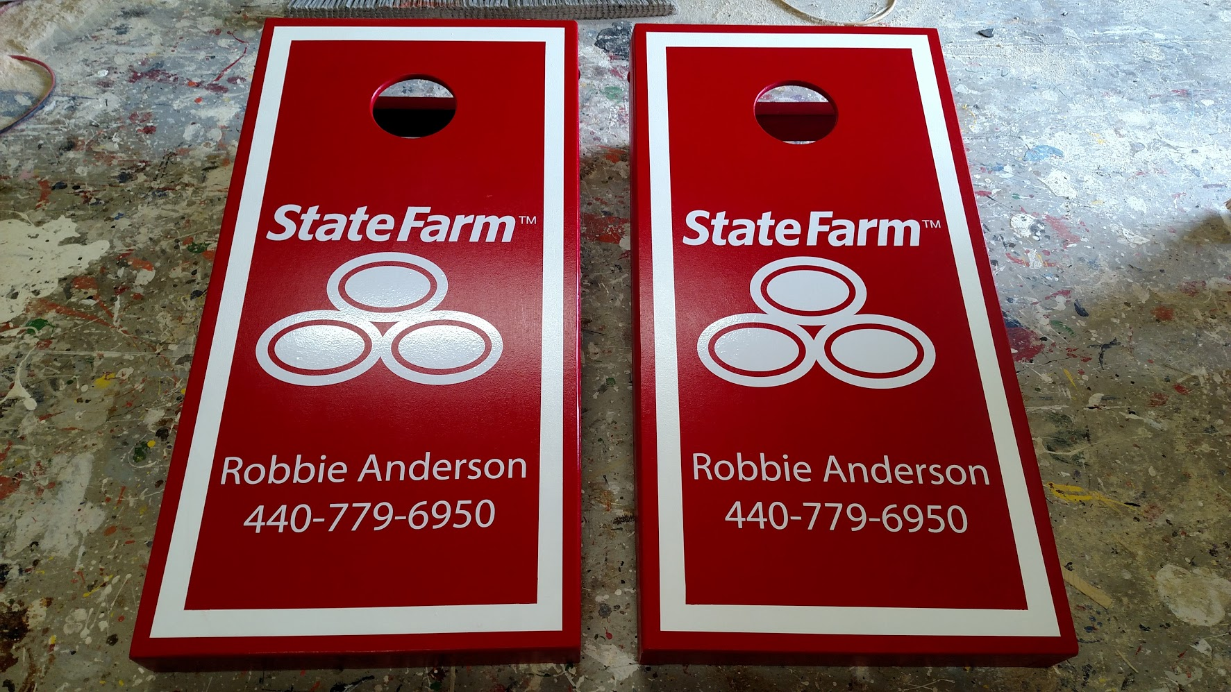 State Farm Cornhole Board Wrap