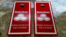 State Farm Cornhole Board Wrap