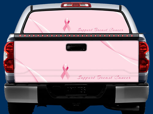 Tailgate / Window Wrap - Breast Cancer 1
