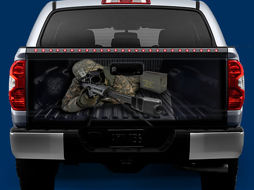 Tailgate Wrap - 50 Cal